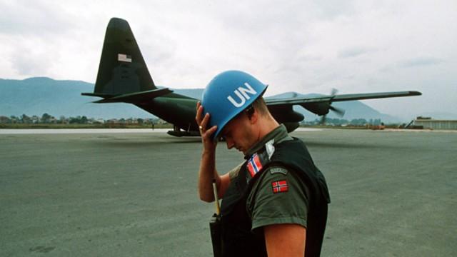 Норвежский миротворец в Сараево