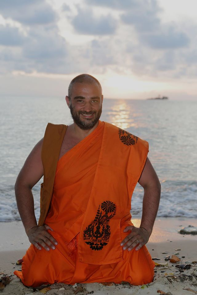 Максим Бланк после медитации