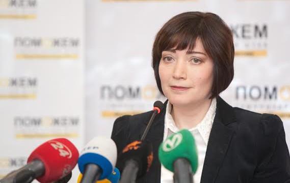 Римма Филь презентует результаты работы Гуманитарного штаба в 2014 году