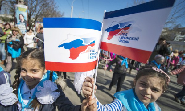 В прошлом году крымчане отметили присоединение к России