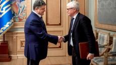 Петр Порошенко на встрече с директором Европейского бюро по борьбе с мошенничеством Джованни Кесслером