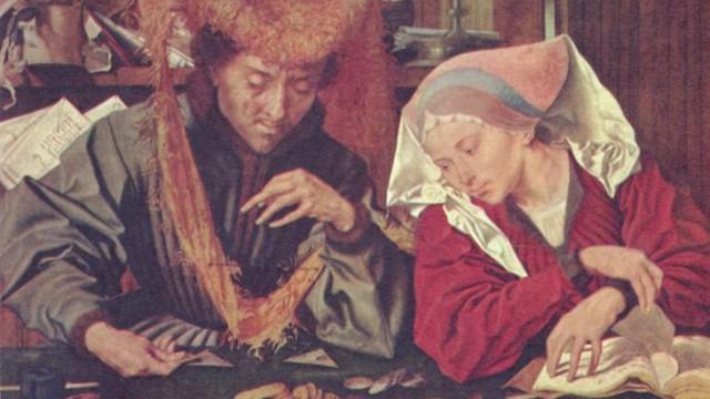 Маринус ван Реймерсвале «Сборщик податей со своей женой»