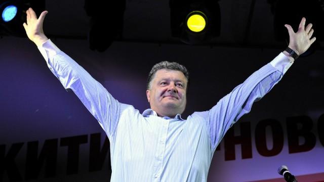 Петр Порошенко во время президентской предвыборной компании
