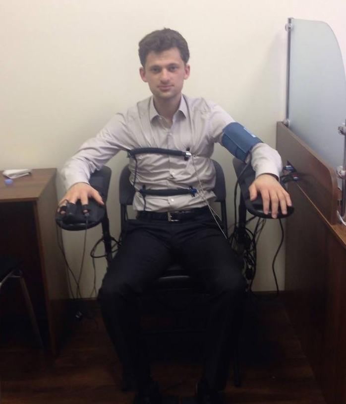 Зампред правления Приватбанка Дмитрий Дубилет проходит проверку на полиграфе