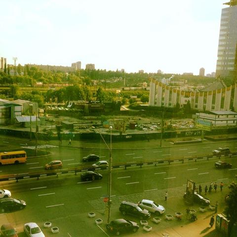 Вид из окна кабинета Пивоварского
