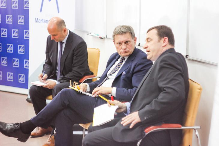 Лешек Бальцерович на лекции во Львовской бизнес-школе. Фото - Лиза Кузнецова