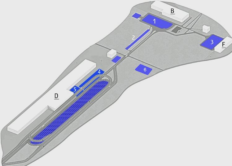 Схема парковки в аэропорту «Борисполь»