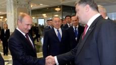 Владимир Путин (слева) и Петр Порошенко