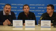 Слева направо: Юрий Береза, Владимир Парасюк, Семен Семенченко