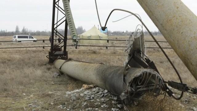 Энергоблокада Крыма: ремонт ЛЭП не возобновится