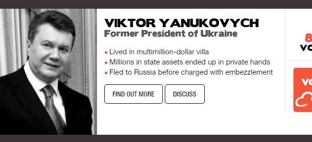Янукович в тройке коррупционеров мира - рейтинг TI