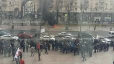 В Киеве таксисты взбунтовались против Uber: видео протеста