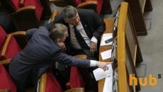 В Раду внесли постановления об отставке Яценюка и Шокина