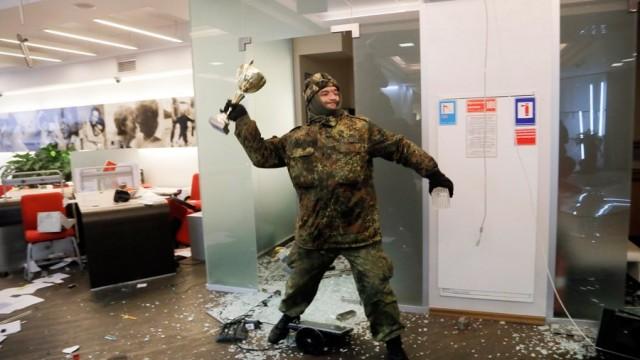 Погромы Альфа-банка оценили в 2,5 млн грн