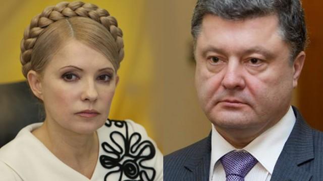 Рейтинги Порошенко и Тимошенко сравнялись - опрос