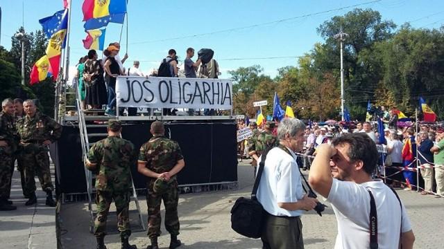 На митинге в Кишиневе произошли столкновения