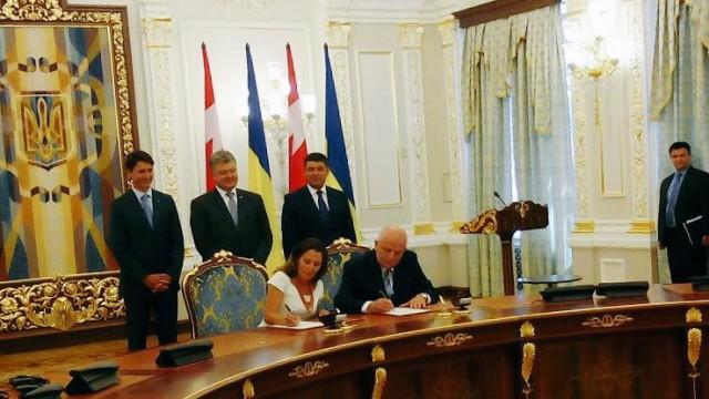 Украина и Канада договорились о зоне свободной торговли