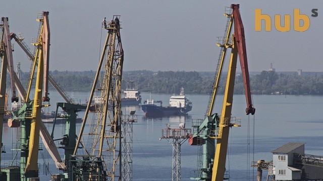В Херсоне спустили на воду нефтемусоросборщик