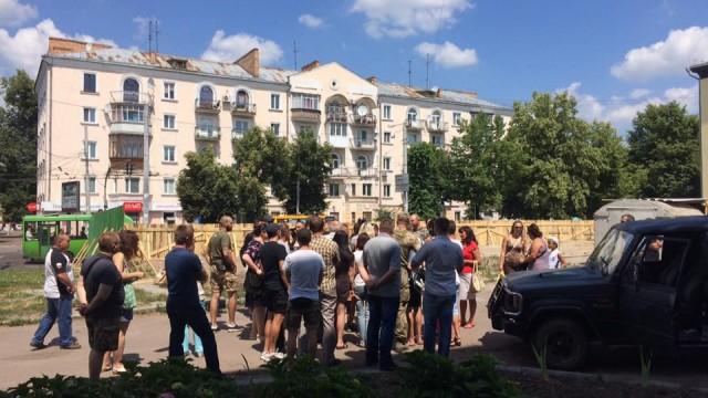 В Житомире протестуют против строительства «АТБ»