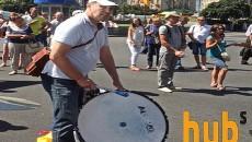 Центр Киева перекрыли вкладчики банка