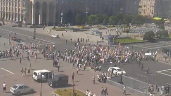 Вкладчики «Михайловского» перекрыли Крещатик