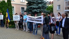 Мелкие предприниматели Тернополя протестуют против большого бизнеса