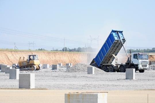 На ЮАЭС началось строительство брызгального бассейна