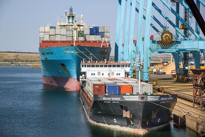 В порту «Южный» заработала новая схема обработки грузов
