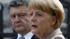 Порошенко и Меркель согласовали позиции по Минским договоренностям