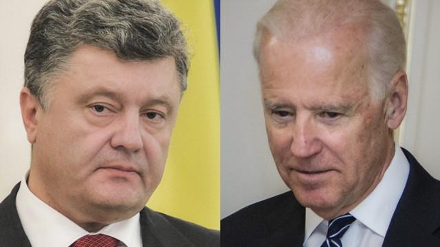 Порошенко обсудил с Байденом санкции против РФ
