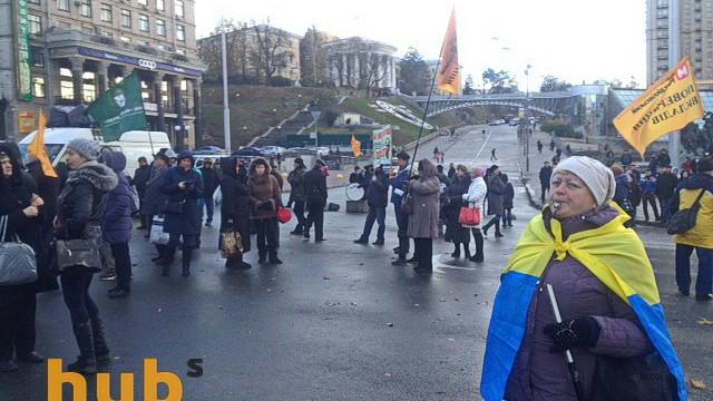 Вкладчики банка «Михайловский» блокируют Крещатик