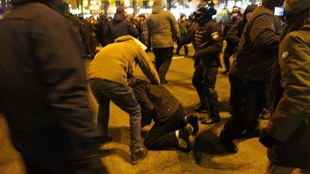 На Майдане произошли небольшие столкновения