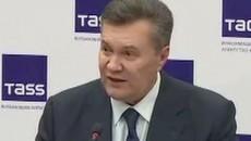 Денег нет, все осталось в Украине, – Янукович