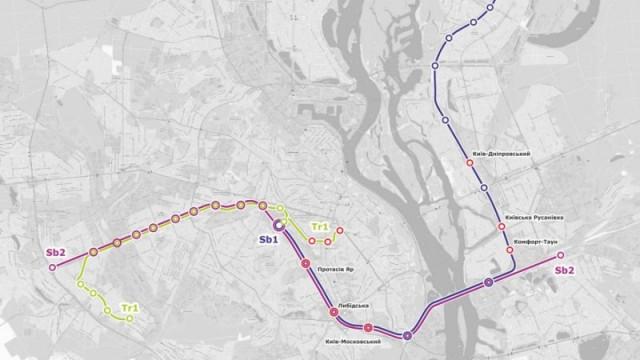 Троещину соединят с Борщаговкой скоростным трамваем