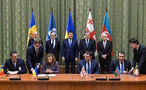 Украина создает зону свободной торговли с Грузией, Молдовой и Азербайджаном