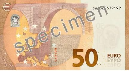 ЕЦБ обновил купюру в 50 евро