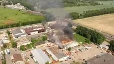 Масштабный пожар на складах под Киевом потушили (ФОТО)