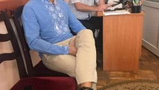 На ногу Полякова одели браслет