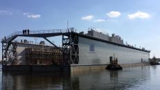 Херсонские судостроители спустили на воду новейший док