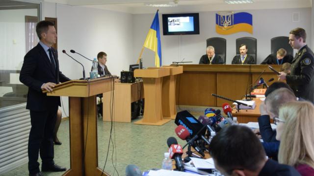 Наливайченко допросили в суде по делу о измене Януковича