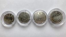 НБУ презентовал новые монеты номиналом 1,2,5 и 10 грн