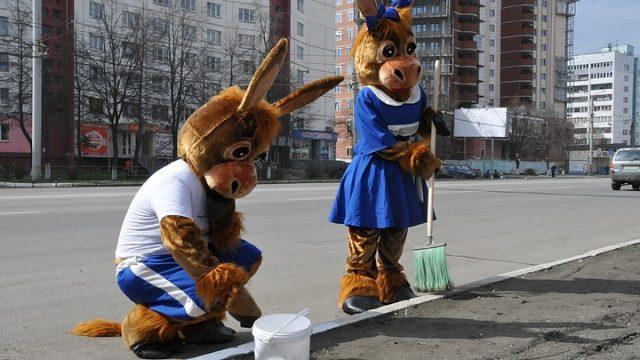 В Украине запретят белить деревья и бордюры известью