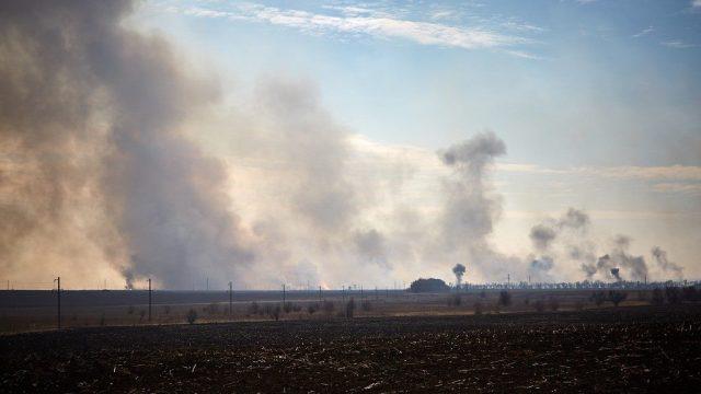 Новые подробности возгорания на территории арсенала в Балаклее