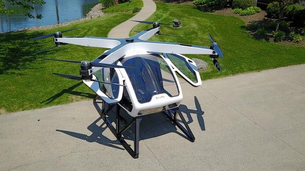 В США тестируют пассажирский дрон с 8 пропеллерами
