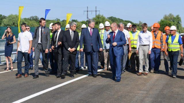 Порошенко открыл мост на трассе Одесса – Рени
