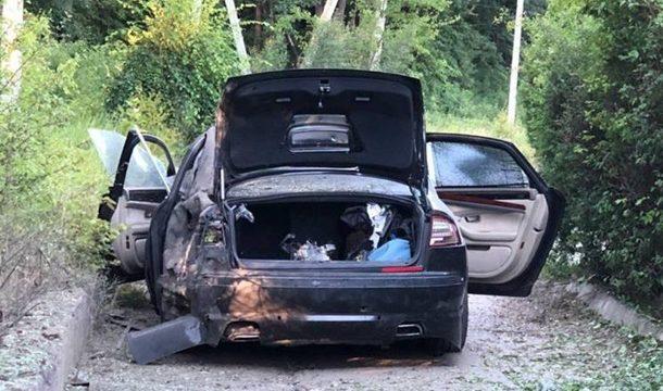 В Харькове взорвалось авто крупного бизнесмена
