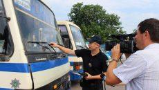 В полиции назвали количество неисправных автобусов