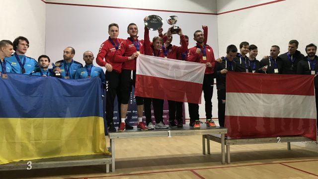 Мужская сборная Украины по сквошу заняла третье место на командном чемпионате Европы в Португалии