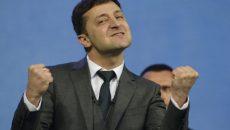 Владимир Зеленский побеждает на выборах президента Украины