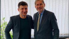 Зеленский встретился с Еврокомиссаром